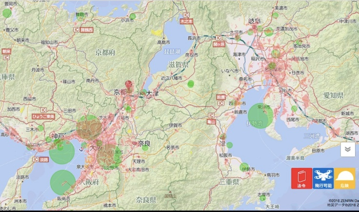 Japan drone map